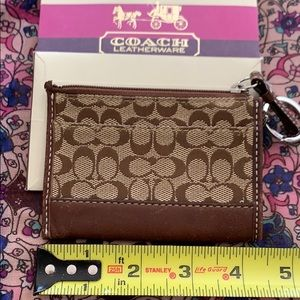 Authentic Coach mini credit card wallet